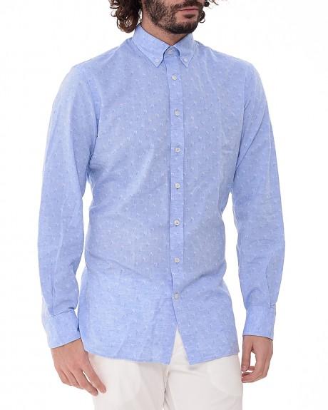 Palm tree pattern πουκάμισο της HACKETT - HM305485