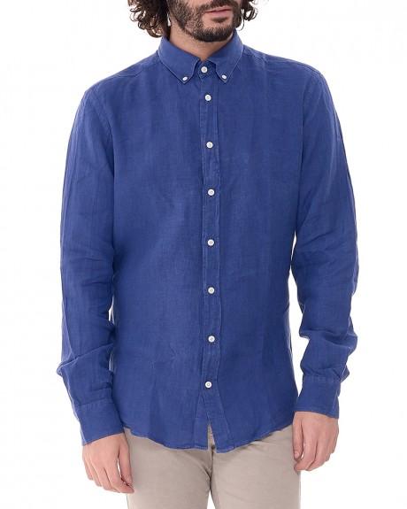 Linen πουκάμισο της HACKETT - HM305808