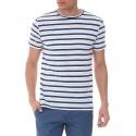 Bianco Ριγέ T-shirt της Antony Morato - MMKS01071/FA110046