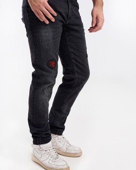 SKINNY FIT USED EFFECT JEANS WITH PATCH DETAILING ΤΗΣ ANTONY MORATO - MMDT00163/FA750202