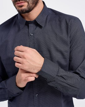 SLIM FIT ALL OVER QUILTED PRINT SHIRT ΤΗΣ ANTONY MORATO - MΜSL00501/FA430353