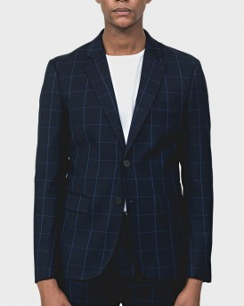 "SLIM-FIT ""BONNIE"" JACKET WITH LINING AND CHECK PATTERN ΤΗΣ ANTONY MORATO - MMJA00400/FA650146"