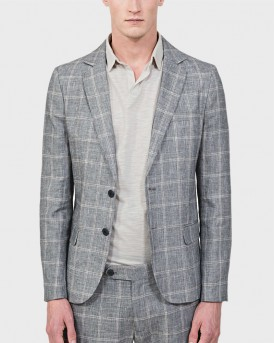 "SLIM-FIT UNSTRUCTURED ""ANIKA"" JACKET IN A SLUB LINEN BLEND ΤΗΣ ANTONY MORATO - ΜMJA00391/FA950124 - ΓΚΡΙ"
