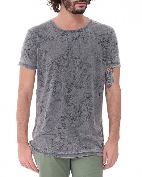 All Over Print T-Shirt της PEPE JEANS - PM503611 COURT