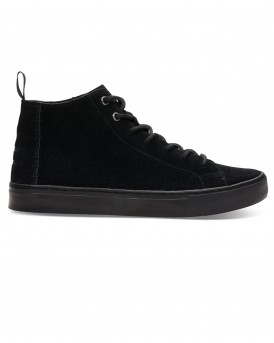 BLACK SUEDE LENOX MID SNEAKERS ΤΗΣ TOMS - 10010860