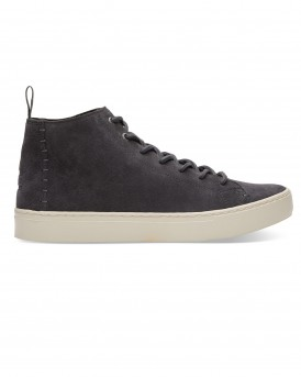 FORGED IRON GREY SUEDE LENOX MID SNEAKERS ΤΗΣ TOMS - 10010861