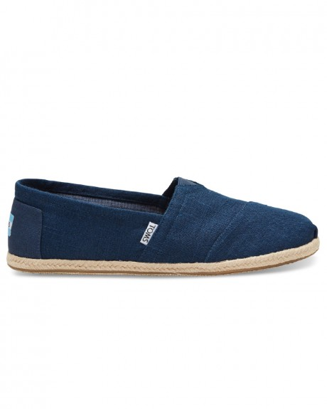 NAVY LINEN ROPE SOLE MEN'S CLASSICS ΕΣΠΑΝΡΙΓΙΕΣ ΤΗΣ TOMS - 10008553