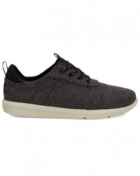 BLACK TERRY CLOTH MEN'S CABRILLO SNEAKERS ΤΗΣ TOMS - 10012505 - ΜΑΥΡΟ