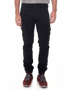 JJIPAUL JJWARNER AKM 168 BLACK Cargo Παντελόνι της ORIGINALS BY JACK & JONES - 12110814