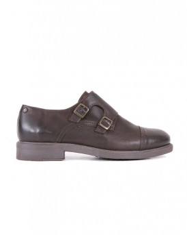 JFWALDGATE LEATHER MONK BROWN STONE SHOES ΤΗΣ jACK & JONES - 12140917 - ΚΑΦΕ