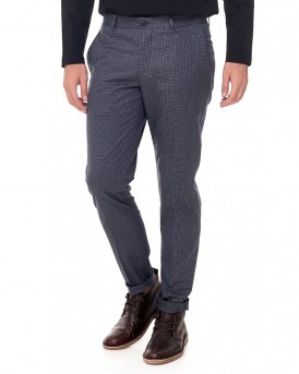 IDENTITY SHD SKINNY-MATH NAVY CHECK TROUSER της SELECTED / HOMME - 16057875