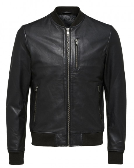 LEATHER - BOMBER - JACKET ΤΗΣ SELECTED - 16060124