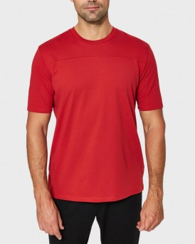 Selected T-Shirt Plain Colour - 16063597 - ΚΟΚΚΙΝΟ