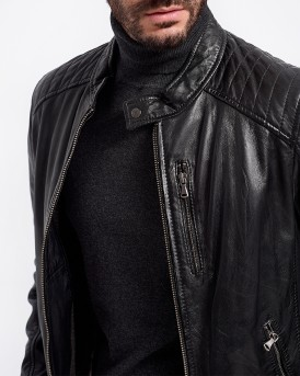 AGENCY TYPE LEATHER JACKET ΤΗΣ OAKWOOD - ΑGENCY 62058