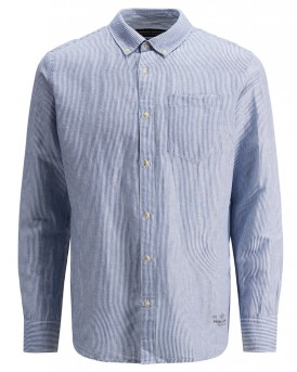 COTTON-LINEN SHIRT ΤΗΣ PREMIUM BY JACK & JONES -  12135085 - ΣΙΕΛ