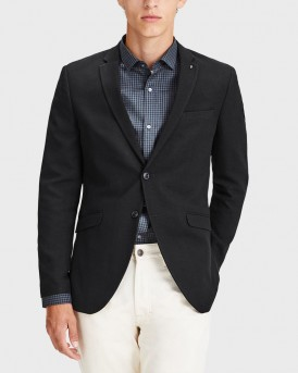 LIGHTLY STRUCTURED BLAZER ΤΗΣ JACK & JONES PREMIUM - 12139358 - ΜΑΥΡΟ