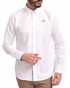 MAN SHIRT L/S OXFORD EASY CARE ΠΟΥΚΑΜΙΣΟ ΤΗΣ LA MARTINA - LMC001
