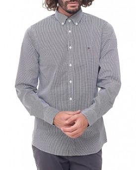 All over pattern stretch πουκάμισο της TOMMY HILFIGER - MW0MW03001