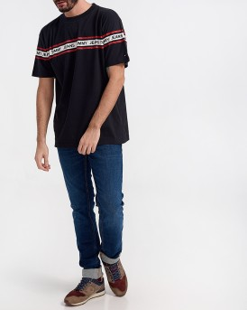 TJM ESSENTIAL TAPE TEE ΤΗΣ TOMMY HILIGER - DM0DM05559