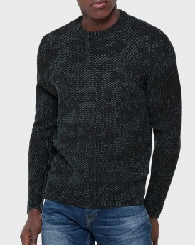 PRINTED KNITTED PULLOVER ΤΗΣ ONLY & SONS - 22011099 - ΜΠΛΕ