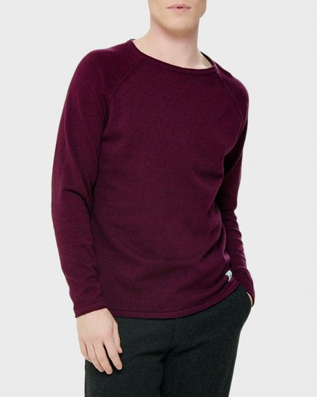 SOLID KNITTED PULLOVER ΤΗΣ ONLY & SONS - 22008845 NOOS