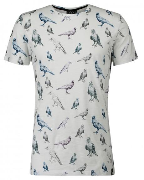 Raven Birds Print T-Shirt της KULTIVATE - TS RAVEN BIRDS