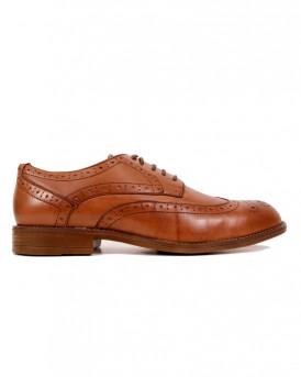 Δερμάτινα Brogue παπούτσια της NOBRAND - 11875.WIND