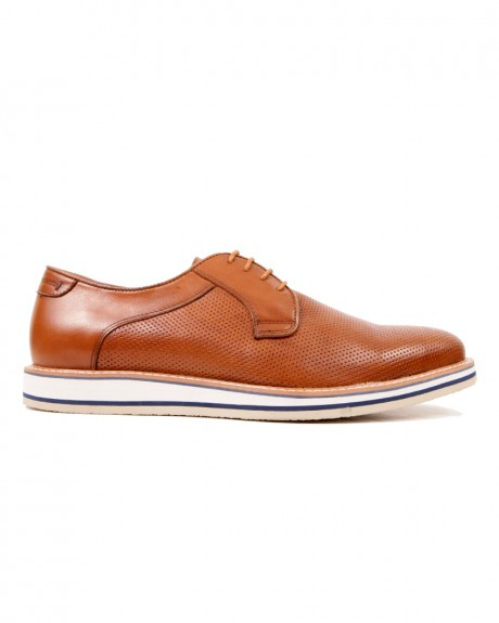 LEATHER SHOES ΤΗΣ UR1 - AT2097-1 532 BROWN
