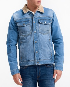 CLASSIC REGULAR DENIM JACKET ΤΗΣ SHINE - 2-39026ΜΟΤ - ΜΠΛΕ