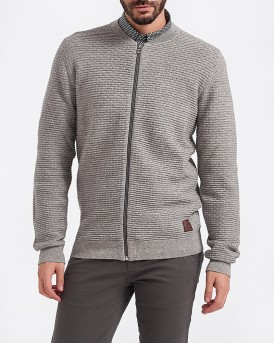 KNITTED ZIPPED PATTERN ΖΑΚΕΤΑ ΤΗΣ SHINE - 2-80332