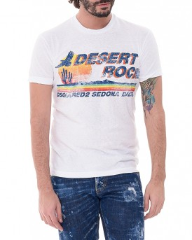 Stamp T-Shirt της DSQUARED2 S74GD0191S22507  - ΑΣΠΡΟ