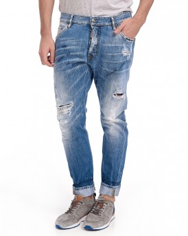 CLASSIC KENNY DISTRESSED JEANS THS DSQUARED2 - s74LB0359S30309