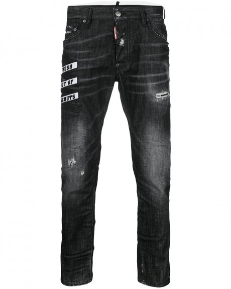EMBROIDERED SKATER ΤΖΗΝ ΤΗΣ DSQUARED2 - S74LB0336S30357