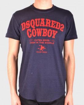 COWBOY BLUEN T-SHIRT ΤΗΣ DSQUARED2 - S71GD0702 S22507