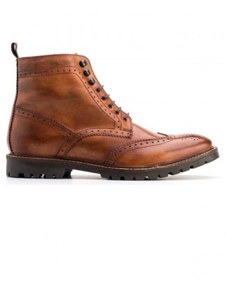 TROOP WASHED TAN BROGUE BOOTS ΤΗΣ BASE LONDON - TROOP