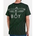 Boy London T-Shirt Matrix 3M Pinstripe - BM3PTBG001 - ΜΑΥΡΟ