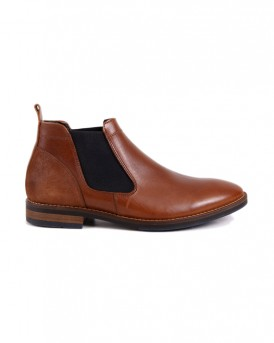 COTTON BLEND LEATHER SHOES ΤΗΣ ROOK - 804 - ΚΑΦΕ
