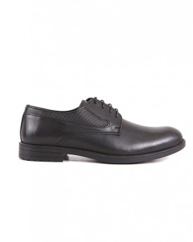 FORMAL LEATHER SHOES SA-01 STYLE ΤΗΣ ROOK PREMIUM - SA-01 - ΜΑΥΡΟ
