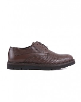 FORMAL LEATHER SHOES VEG-201 STYLE ΤΗΣ ROOK PREMIUM - VEG-201 - ΚΑΦΕ