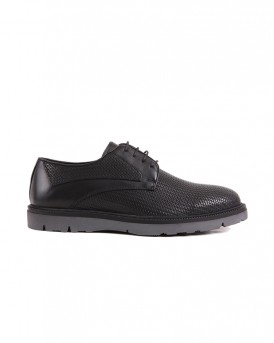 FORMAL LEATHER SHOES VEG-201 STYLE ΤΗΣ ROOK PREMIUM - VEG-201 - ΜΑΥΡΟ