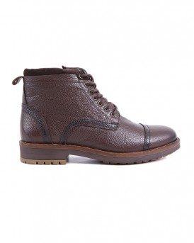 ZIPPED LEATHER BOOTS CE-12 STYLE ΤΗΣ ROOK PREMIUM - CE-12 - ΚΑΦΕ