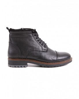 ZIPPED LEATHER BOOTS CE-12 STYLE ΤΗΣ ROOK PREMIUM - CE-12 - ΜΑΥΡΟ