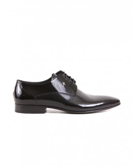LEATHER SHINE FORMAL SHOES SY-09-105 STYLE ΤΗΣ ROOK PREMIUM - SY-09-105 - ΜΑΥΡΟ