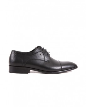 OXFORM LEATHER SHOES SY-206-01 STYLE ΤΗΣ ROOK PREMIUM - SY-206-1 - ΜΑΥΡΟ