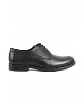 LEATHER OXFORD SHOES LND-07 STYLE ΤΗΣ ROOK PREMIUM - LND-07 - ΜΑΥΡΟ