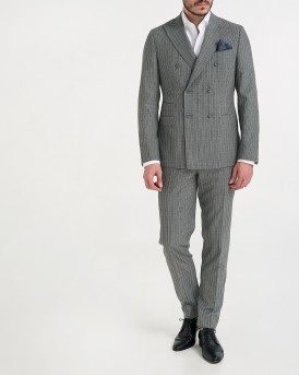 WOOL STRIPE PATTERNED 2-PIECE SUIT ΤΗΣ MANUEL RITZ - 2611Α498 - ΓΚΡΙ