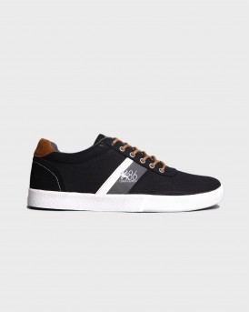 PREPPY LOW CASUAL SHOES ΤΗΣ RUGGED GEAR - 20306 - ΜΑΥΡΟ