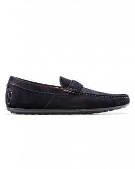 SUEDE MOCCASINS WITH TEXTURED VAMP ΤΗΣ HUGO - 50383603 DANDY MOCC