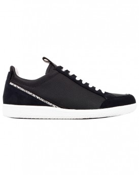 SNEAKERS D879 NAVY BLUE BRAND POPULAR TREND ΤΗΣ EMPORIO ARMANI - Χ4Χ213 XL182