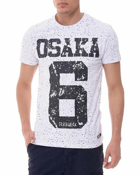 Osaka Splatter Tee T-shirt της SUPERDRY - M10001SODS